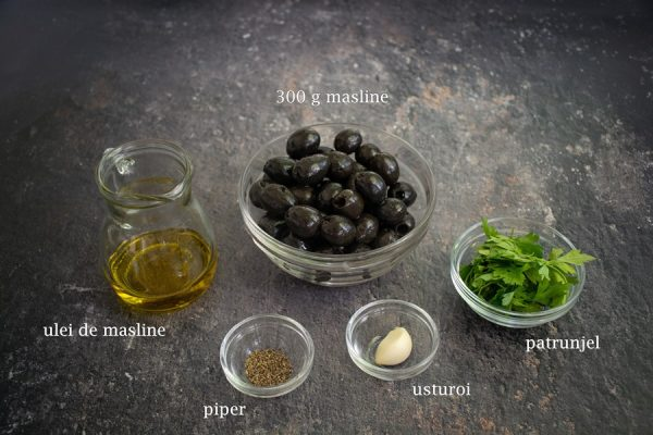 ingrediente pentru pasta de masline