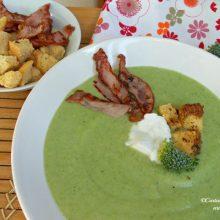 Supă-cremă de broccoli cu bacon