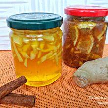 Ceai ghimbir cu miere si lamaie pentru raceala