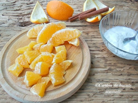 iaurt cu portocale si scortisoara