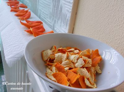 coji de portocala macinate