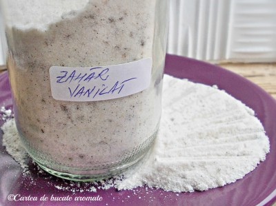 zahar pudra vanilat