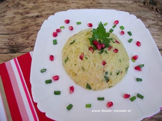 risotto cu ceapa verde si rodie