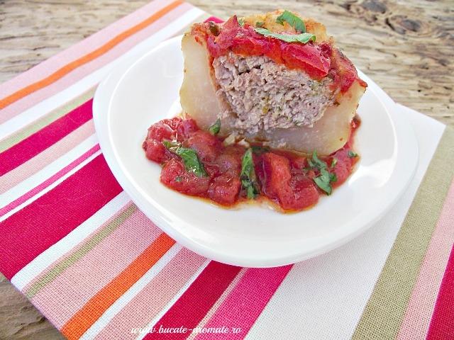 gulii umplute cu carne şi sos de roşii