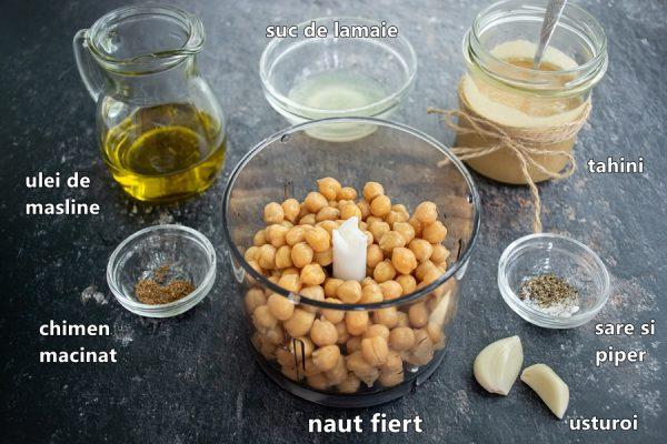 Ingrediente pentru hummus