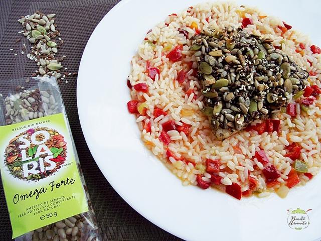 Peşte în crustă de seminţe cu garnitură de orez3