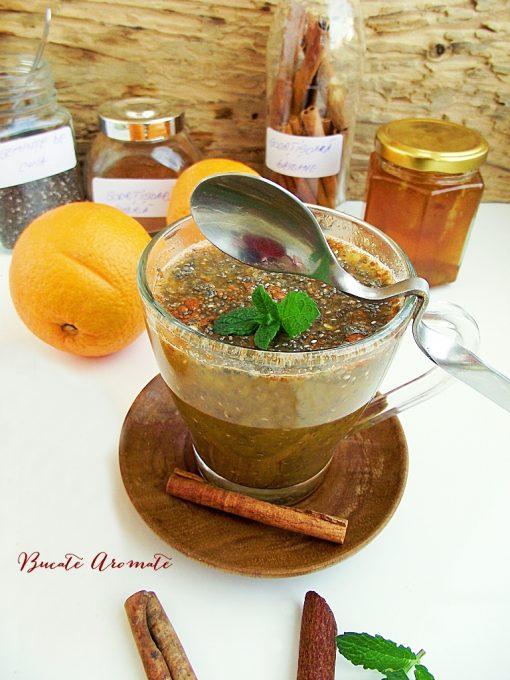 Budincă de chia cu portocale şi scorţisoară
