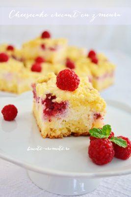 Cheesecake crocant cu zmeură