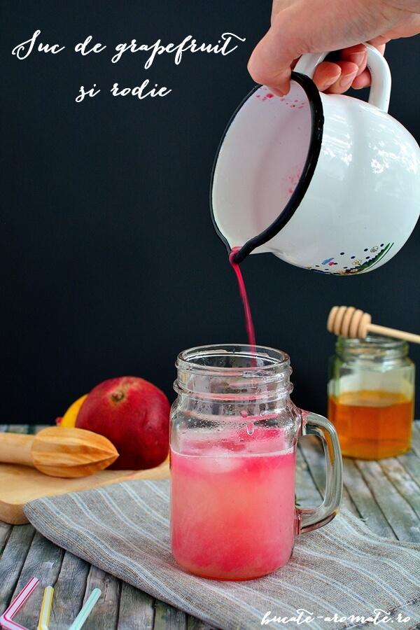 Suc de grapefruit si rodie
