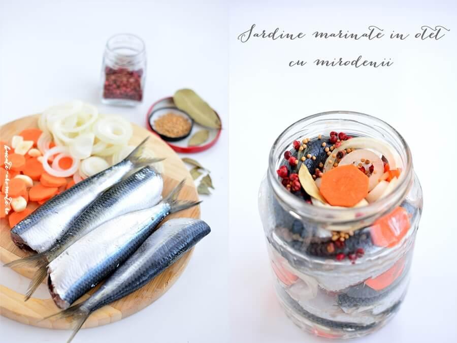 Sardine marinate în oţet cu mirodenii