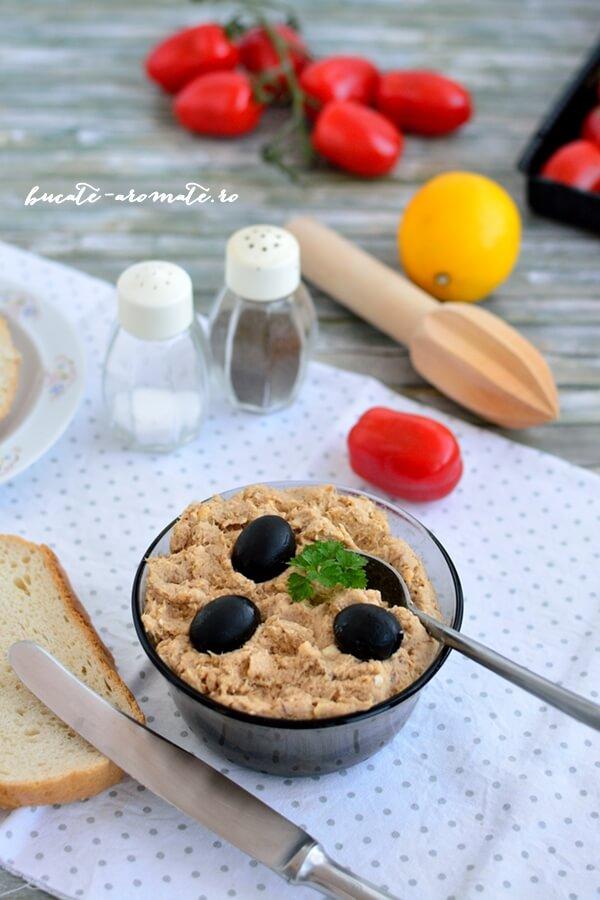 Pastă de ton cu muştar pentru tartine sau ouă umplute