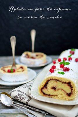 Rulada cu gem de capsuni si crema de vanilie (1)
