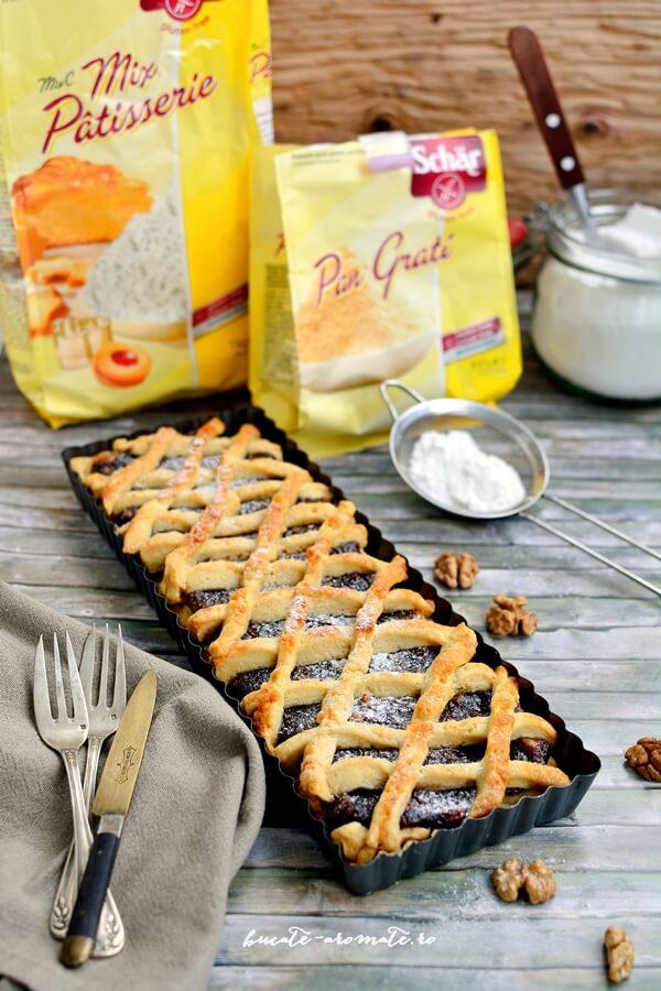 prajitura cu gem de prune si nuci