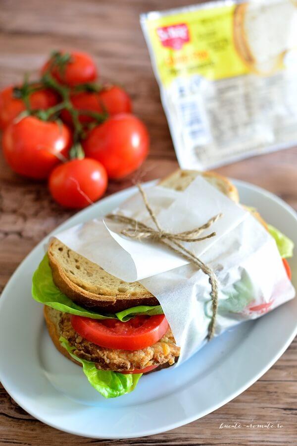 Sandviș de post cu chifteluţe din legume