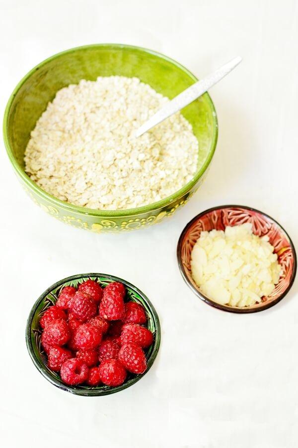 Porridge cu zmeura