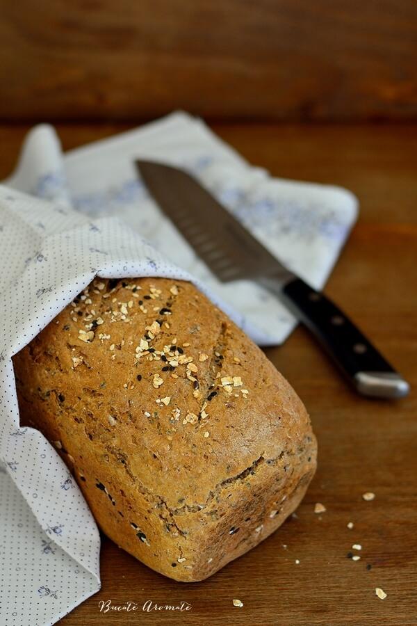 Pâine de secară cu fulgi de ovăz