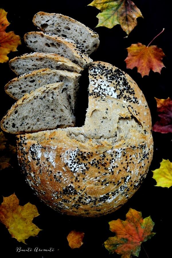 Pâine de secară cu chimen negru