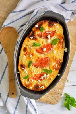 retete dietetice - Budincă dietetică cu brânză și conopidă