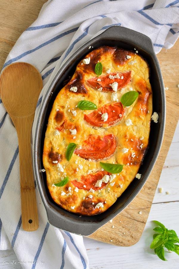 Budincă dietetică cu brânză și conopidă