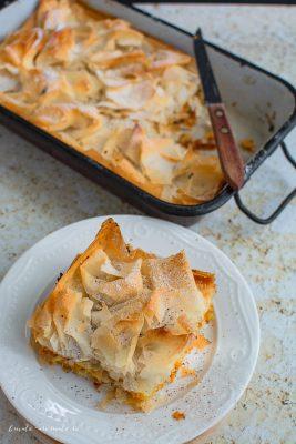 Plăcintă crocantă cu dovleac