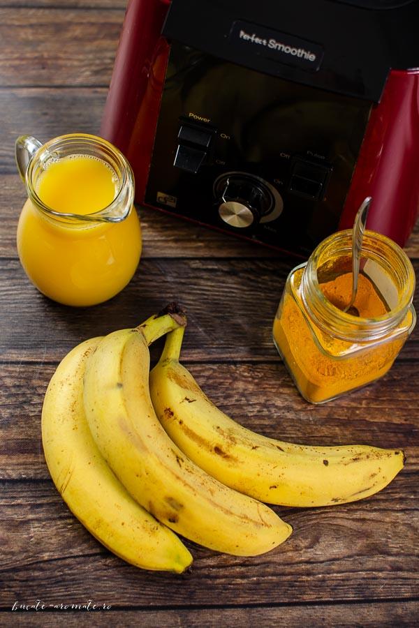 Smoothie vegan cu banane