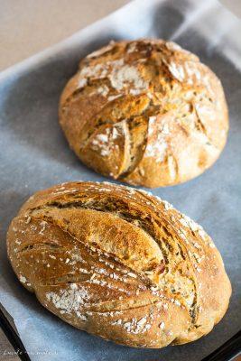 stretch &fold - Pâine cu făină de secară și semințe