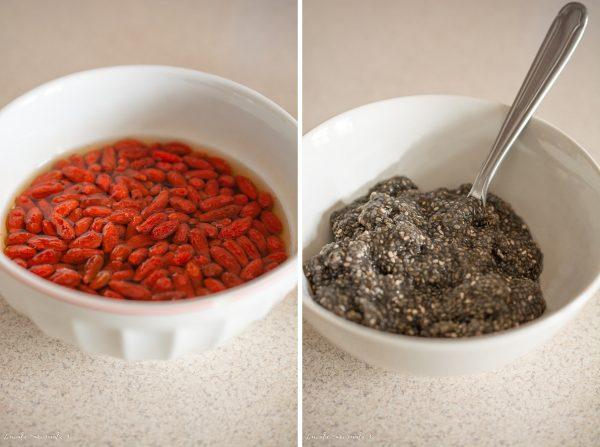 Paine dulce cu seminte de chia si fructe goji