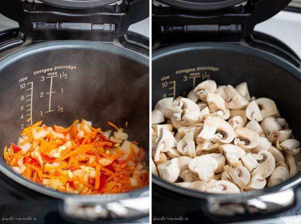 Tocanita de ciuperci cu sos de rosii