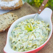Salata de fasole verde cu usturoi si iaurt