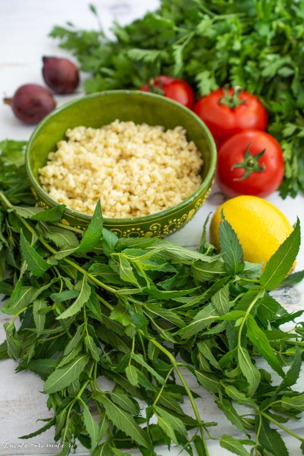 Tabouleh - salata libaneza cu bulgur si patrunjel