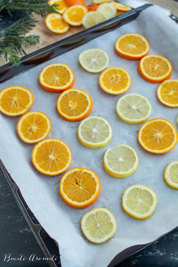 felii de lamai si portocale
