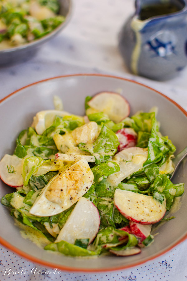 Salata de oua cu ridichi