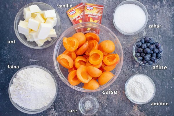 Ingrediente tarta cu caise