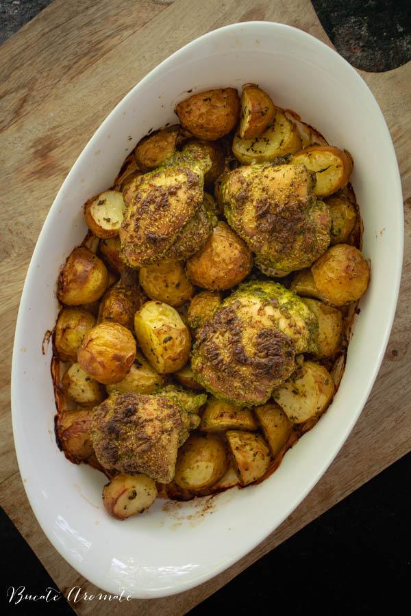 Pulpe cu cartofi la cuptor