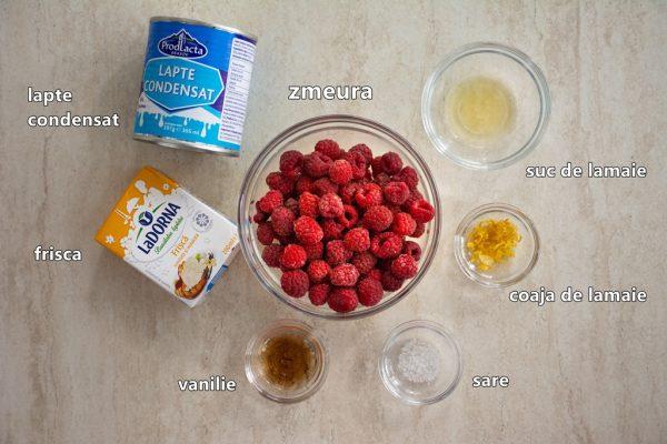 ingrediente inghetata cu zmeura