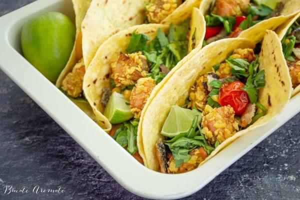 Tacos cu somon