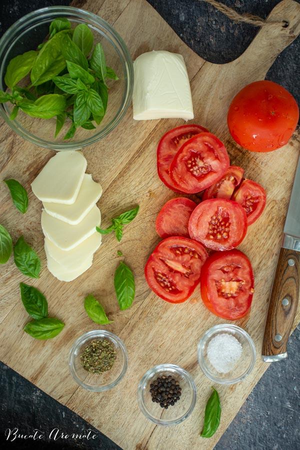 ingrediente pentru salata Caprese