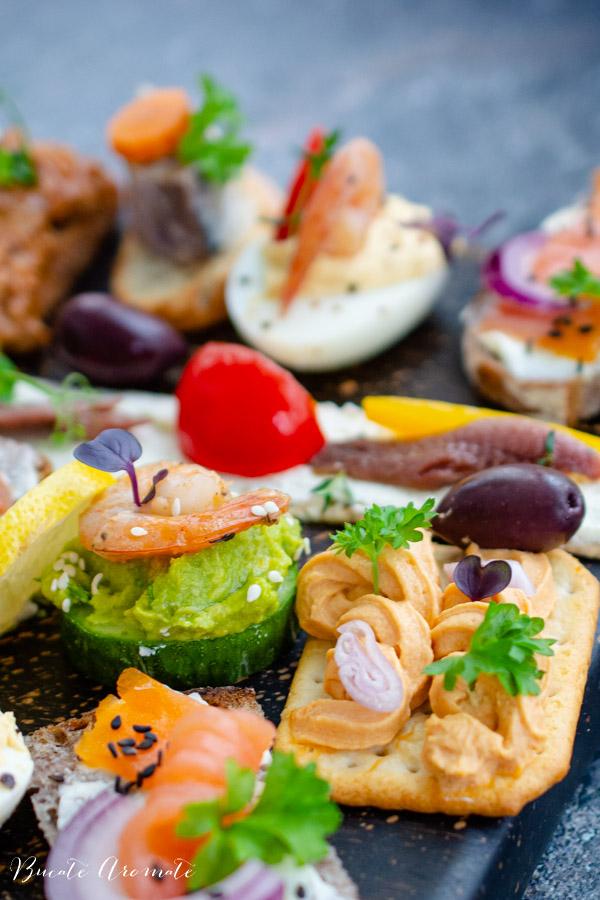 Aperitive cu pește și fructe de mare