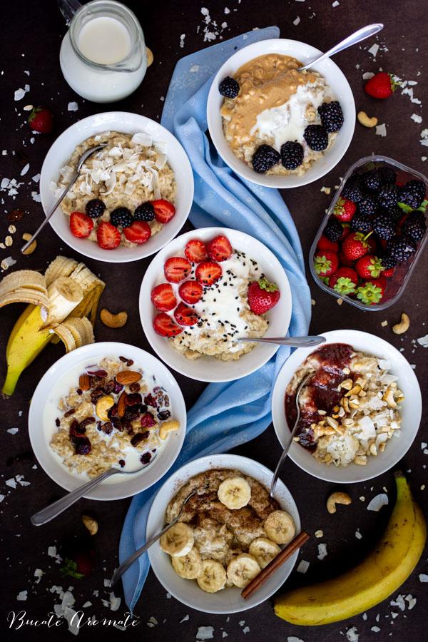 Porridge de ovăz - 6 idei